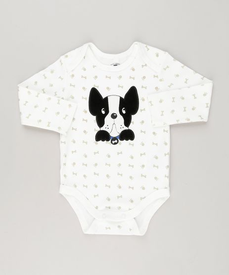 Body-Infantil-Cachorrinho-Estampado-em-Algodao---Sustentavel-Off-White-8941280-Off_White_1