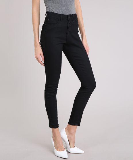Calca-Jeans-Feminina-Skinny-Cintura-Alta-Preta-9209325-Preto_1