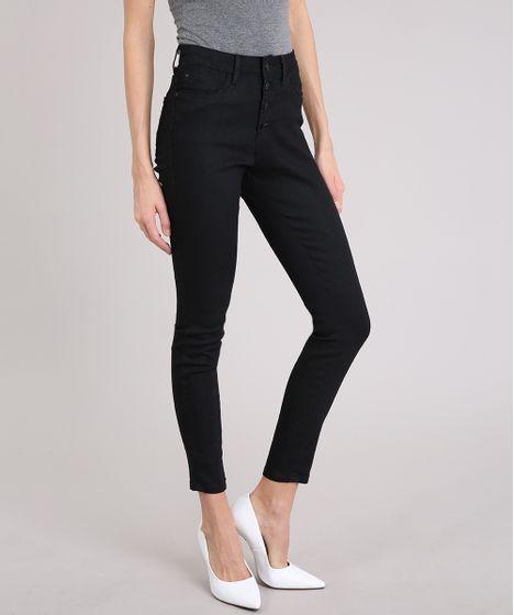 bd16c9f8c Calca-Jeans-Feminina-Skinny-Cintura-Alta-Preta-9209325- ...