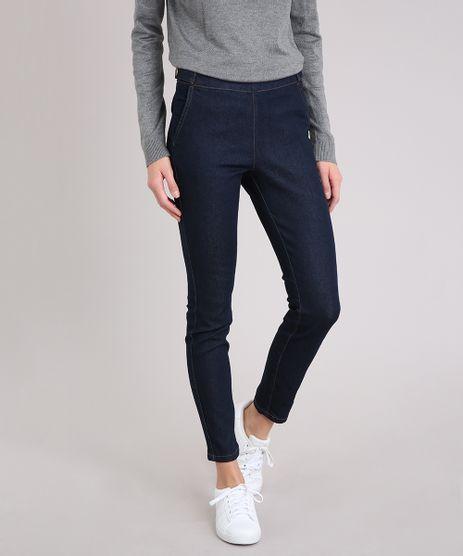 Calca-Jeans-Feminina-Cigarrete-com-Botoes-Cintura-Alta-Azul-Escuro-9101336-Azul_Escuro_1