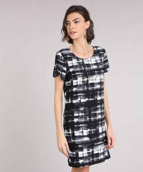 Vestido-Feminino-Estampado-Curto-Manga-Curta-Decote-Redondo-Preto-9082863-Preto_1