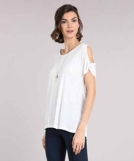 Blusa-Feminina-com-Lurex-Open-Shoulder-Manga-Curta-Decote-Redondo-Off-White-9224412-Off_White_1