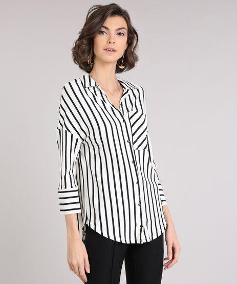 Camisa-Feminina-Listrada-com-Bolso-Manga-Longa-Off-White-9213571-Off_White_1
