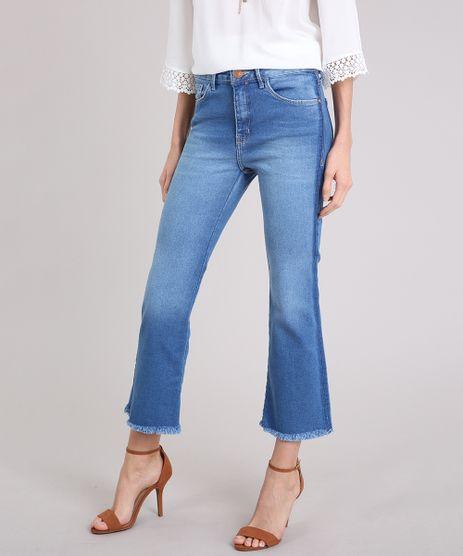 Calca-Jeans-Feminina-Cropped-Flare-Cintura-Alta-Azul-Medio-9222216-Azul_Medio_1