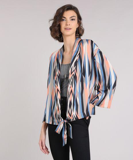 Kimono-Feminino-Estampado-Geometrico-com-No-Manga-Longa-Bege-9083048-Bege_1