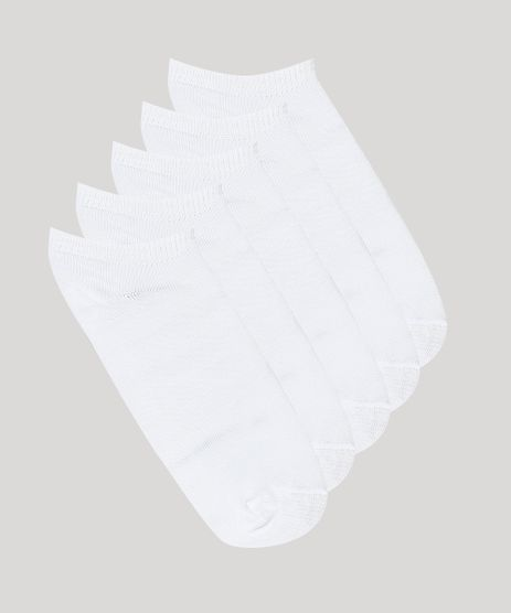 Kit-de-5-Meias-Infantis-Soquetes-Branca-8312847-Branco_1