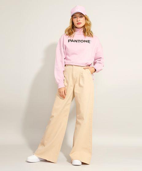 Calca-Wide-Pantalona-com-Pregas-e-Barra-Desfiada-Cintura-Super-Alta-Pantone-Kaki-9990265-Kaki_1