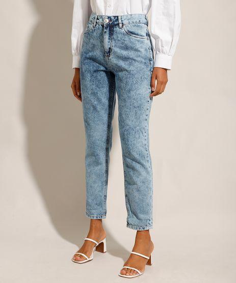 Calca-Mom-Jeans-Marmorizada-Cintura-Super-Alta-Azul-Medio-9928527-Azul_Medio_1