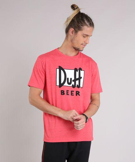 Camiseta-Masculina--Duff-Beer--Os-Simpsons-Manga-Curta-Gola-Careca-Vermelha-9223894-Vermelho_1