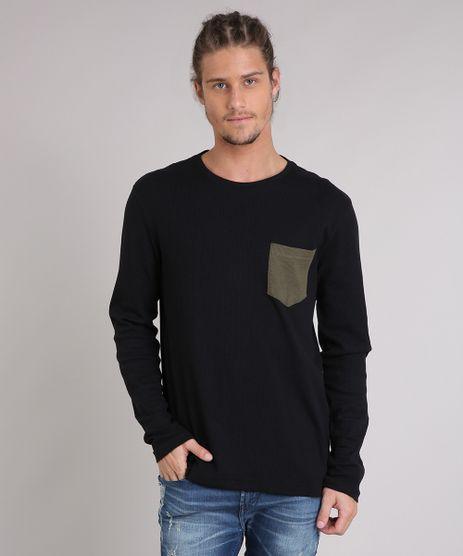 Camiseta-Masculina-Canelada-com-Bolso-Manga-Longa-Preta-9223946-Preto_1