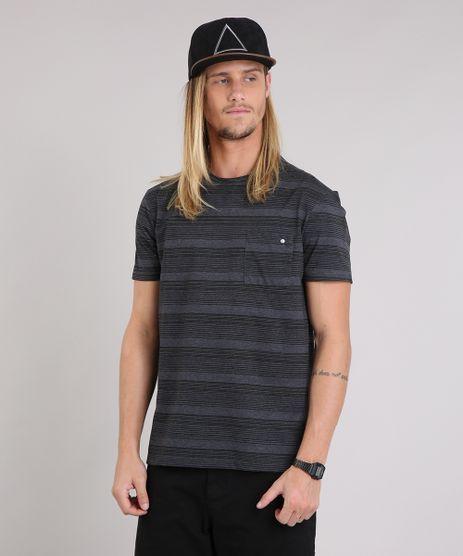 Camiseta-Masculina-Listrada-com-Bolso-Manga-Curta-Gola-Careca-Cinza-Mescla-Escuro-9199640-Cinza_Mescla_Escuro_1