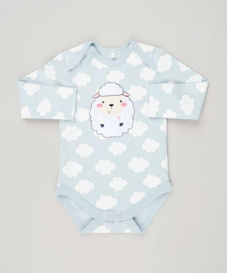 Body-Infantil-Ovelha-Estampado-de-Nuvens-Manga-Longa-Decote-Redondo-em-Algodao---Sustentavel-Azul-Claro-8941329-Azul_Claro_1