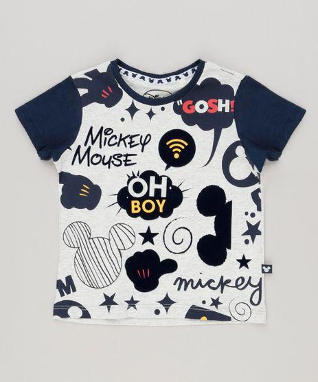 Camiseta-Infantil-Mickey-Manga-Curta-Gola-Careca-Cinza-Mescla-Claro-8697938-Cinza_Mescla_Claro_1