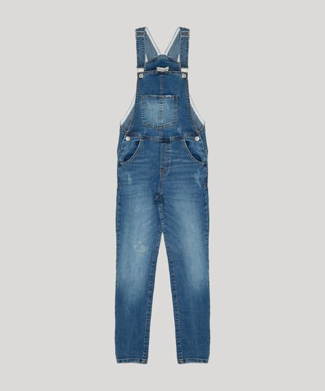 Macacao-Jeans-Infantil-com-Puidos-Azul-Medio-9217174-Azul_Medio_1