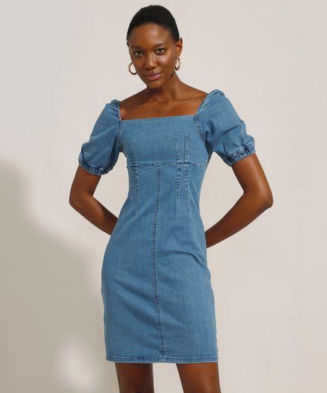 Vestido-Tal-Mae-Tal-Filha-Jeans-Curto-Manga-Bufante-Decote-Reto-Azul-Escuro-9991175-Azul_Escuro_1