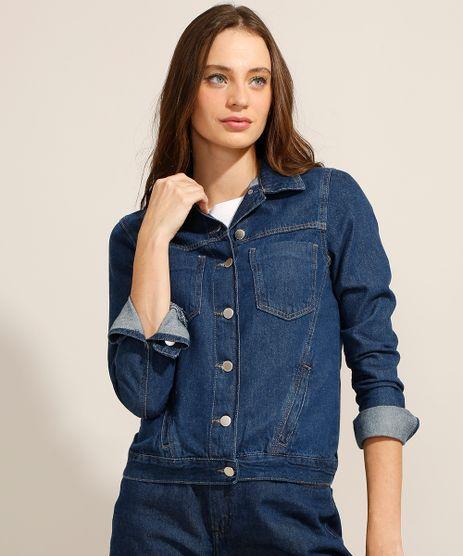 Jaqueta-Jeans-com-Bolsos-Azul-Escuro-9991740-Azul_Escuro_1
