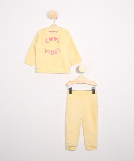 Conjunto-Infantil-de-Fleece-Blusao--Cool-Vibes----Calca-Jogger-Amarelo-9970959-Amarelo_1