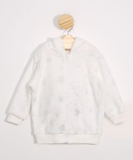 Jaqueta-Infantil-de-Fleece-Unicornios-Estampado-de-Estrelas-com-Capuz-Off-White-9972428-Off_White_1