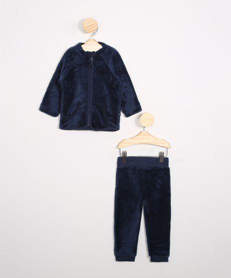 Conjunto-Infantil-de-Fleece-Blusao-Gola-Alta---Calca-Jogger-Azul-Marinho-9972013-Azul_Marinho_1