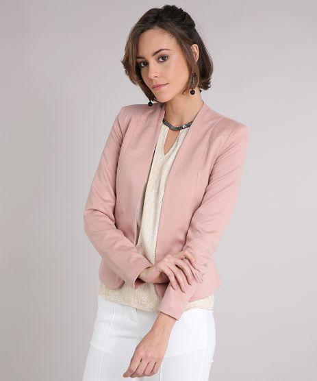 Blazer-Feminino-com-Ziper-Rose-8641689-Rose_1