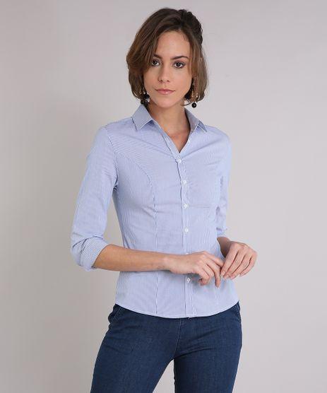 Camisa-Feminina-Social-Listrada-Manga-Longa-Azul-8797414-Azul_1
