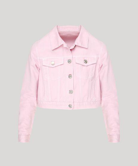 Jaqueta-Jeans-Feminina-Cropped-com-Bolsos-Rosa-9264228-Rosa_2