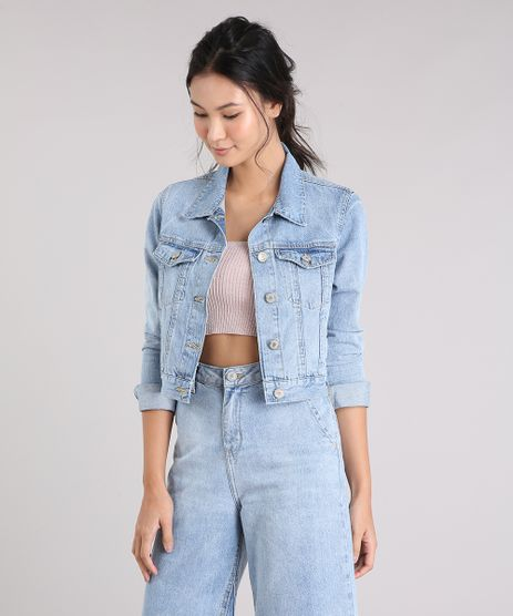 Jaqueta-Jeans-Feminina-Cropped-com-Bolsos-Azul-Claro-9264228-Azul_Claro_1