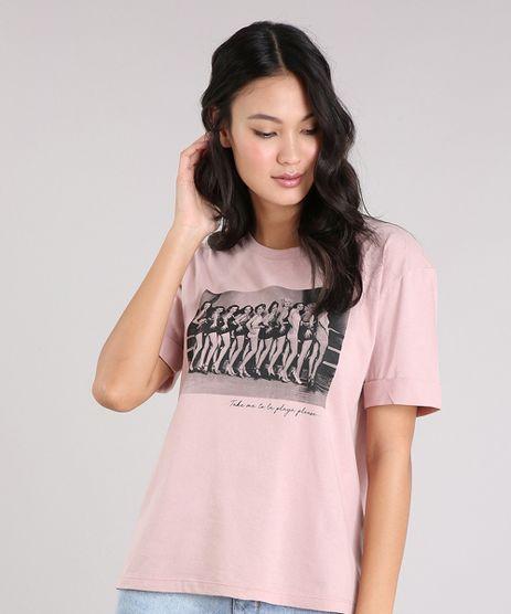 T-shirt-Feminina-Manga-Curta-com-Estampa--Take-Me-To-La-Playa-Please-----Rose-9264235-Rose_1