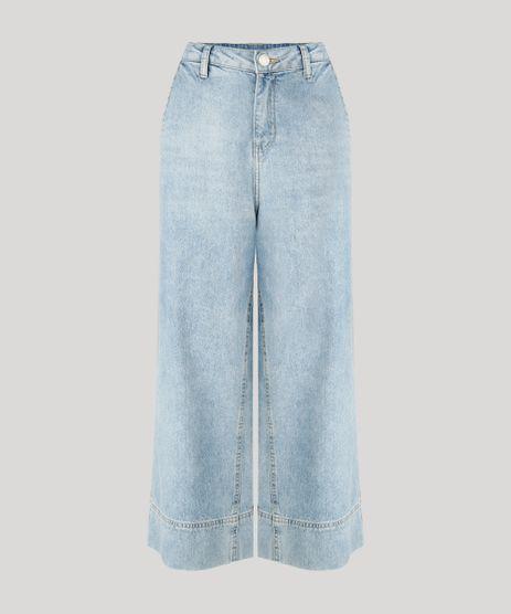 Calca-Jeans-Feminina-Pantacourt-Cintura-Alta-Azul-Claro-9264227-Azul_Claro_2