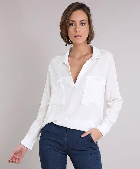 Camisa-Feminina-com-Bolsos-Manga-Longa-Off-White-9126978-Off_White_1