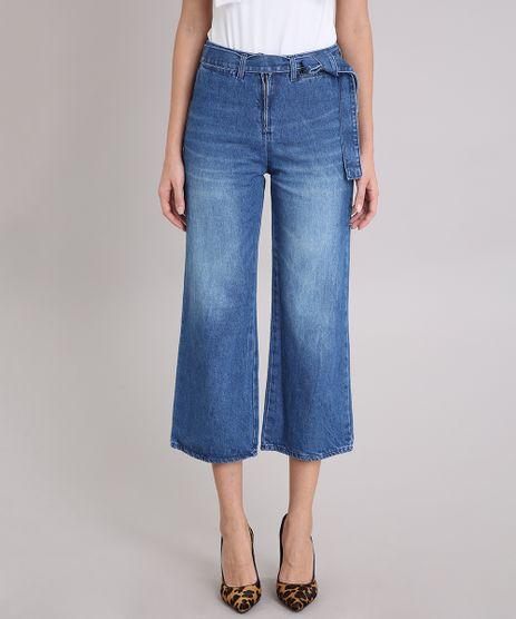 Calca-Jeans-Feminina-Pantacourt-com-Cinto-Azul-Medio-9223001-Azul_Medio_1