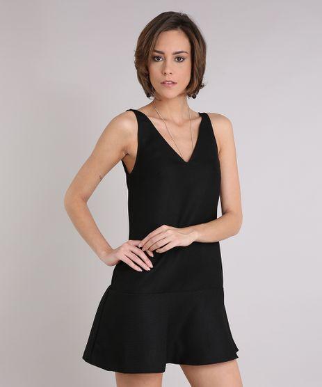 Vestido-Feminino-Texturizado-Curto-Decote-V-Sem-Manga-Preto-9089596-Preto_1