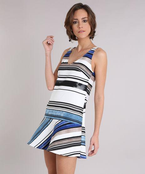 Vestido-Feminino-Texturizado-Listrado-Curto-Decote-V-Sem-Manga-Off-White-9089597-Off_White_1