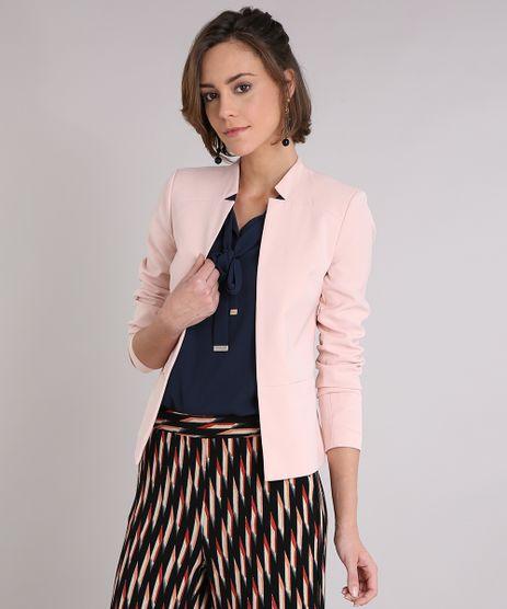 Blazer-Feminino-Acinturado-com-Recortes-Rose-8890182-Rose_1