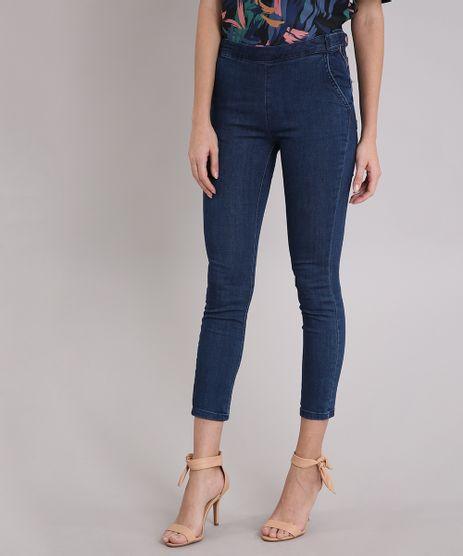 Calca-Jeans-Feminina-Cigarrete-com-Botoes-Cintura-Alta-Azul-Escuro-9102253-Azul_Escuro_1