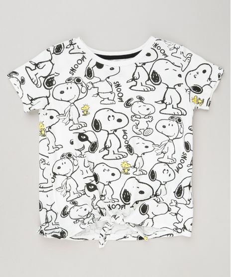 Blusa-Infantil-Estampada-Snoopy-com-No-Manga-Curta-Decote-Redondo-em-Algodao---Sustentavel-Off-White-9175394-Off_White_1