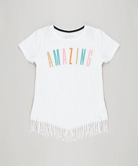 Blusa-Infantil--Amazing--com-Franjas-Manga-Curta-Decote-Redondo-em-Algodao---Sustentavel-Off-White-9141770-Off_White_1