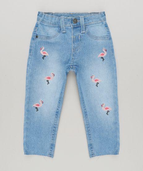 Calca-Jeans-Infantil-com-Bordado-de-Flamingo-Azul-Medio-9218160-Azul_Medio_1