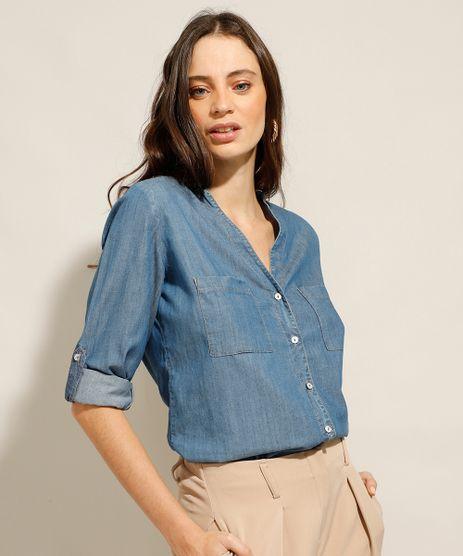 Camisa-Jeans-com-Bolsos-Manga-Longa-Azul-Medio-9993154-Azul_Medio_1