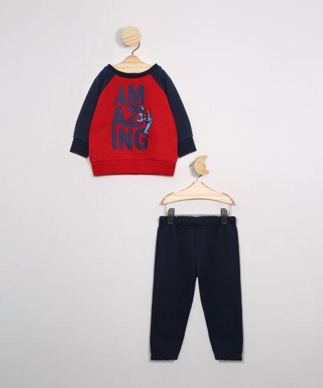 Conjunto-Infantil-de-Moletom-Blusao-Raglan-Homem-Aranha-Vermelha---Calca-Jogger-Azul-Marinho-9976223-Azul_Marinho_1