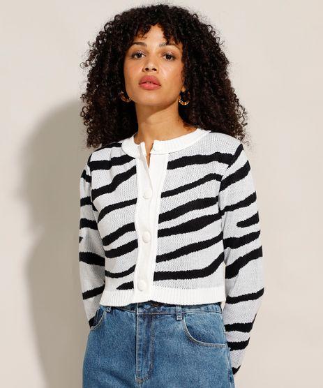 Cardigan-Cropped-de-Trico-Estampado-Animal-Print-Zebra-Decote-Redondo-Off-White-9988099-Off_White_1