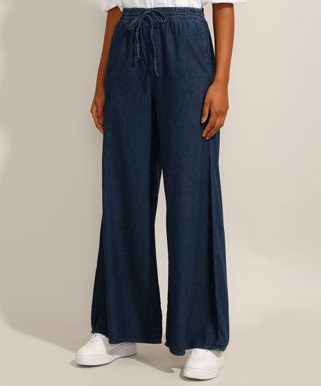 Calca-Wide-Pantalona-Jeans-com-Cordao-Cintura-Super-Alta-Azul-Escuro-9992336-Azul_Escuro_1