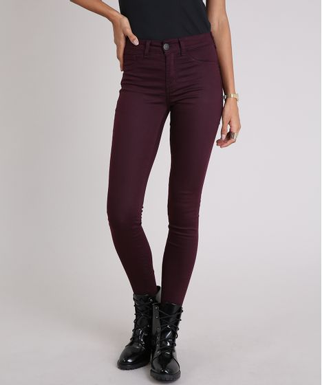 e6425aeee Calca-Feminina-Super-Skinny-Energy-Jeans-Roxa-9046477- ...