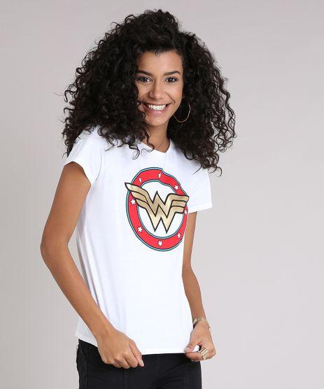 Blusa-Feminina-Mulher-Maravilha-Manga-Curta-Decote-Redondo-em-Algodao---Sustentavel-Off-White-9238965-Off_White_1