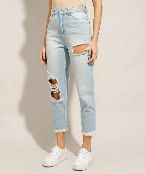 Calca-Mom-Cropped-Jeans-Destroyed-Cintura-Super-Alta-Azul-Claro-9991106-Azul_Claro_1