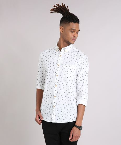 Camisa-Masculina-Mini-Print-Folhagem-com-Bolso-Manga-Longa-Off-White-9079739-Off_White_1