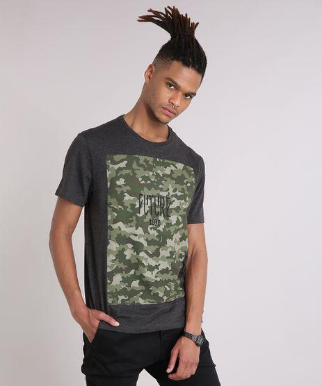Camiseta-Masculina-com-Estampa-Camuflada-Manga-Curta-Gola-Careca-Cinza-Mescla-Escuro-9102769-Cinza_Mescla_Escuro_1