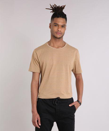 Camiseta-Masculina-Basica-Listrada-Manga-Curta-Gola-Careca-Caramelo-9204273-Caramelo_1