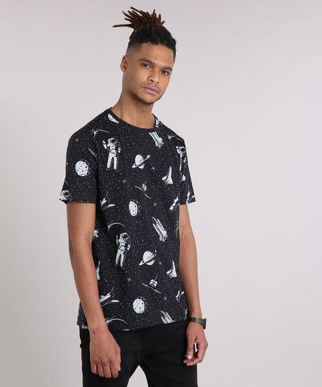 Camiseta-Masculina-Estampada-de-Astronautas-Manga-Curta-Gola-Careca-Preta-9210612-Preto_1