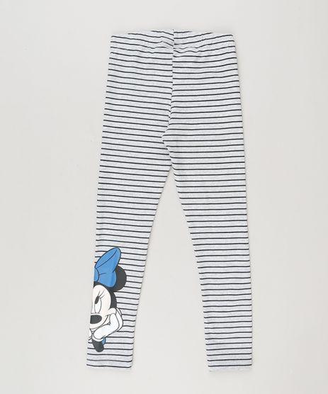 Calca-Legging-Infantil-Listrada-Minnie-em-Algodao---Sustentavel-Cinza-Mescla-9231832-Cinza_Mescla_1